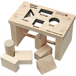 Maple Landmark Schoolhouse Naturals Shape Sorter Bench