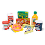 Melissa & Doug Fridge Food Set - Wooden Play Food
